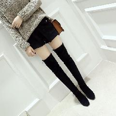 欧美秋冬新款长靴女弹力靴过膝靴女靴子高跟女靴长筒靴女鞋S7013