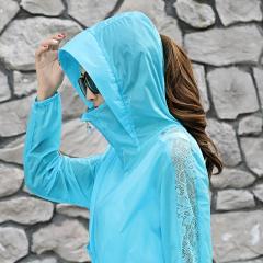 多规格 K汐-巴汐 蝙蝠袖拉链连帽原创设计防晒衣